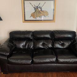 Black leather sofa for Sale in Denver,  CO
