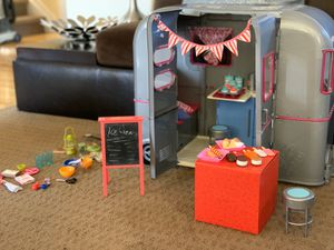 Our Generation (American Girl Doll spin-off) Camper with Ice-cream Shop Accessories for Sale in Parker, CO