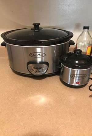 Chef's Mark Stainless Steel Crockpot Set for Sale in Fresno, CA