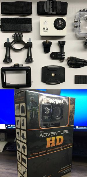 New in box Cobra Adventure HD sports generic gopro style camera cam 1080p water proof with lcd screen and accessories for Sale in Whittier, CA