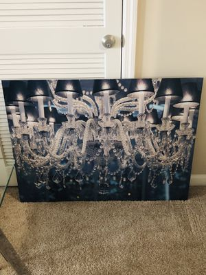 Stunning Blue Chandelier Metal Print for Sale in Alexandria, VA