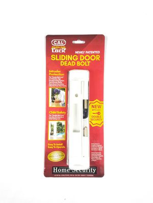 Double Bolt Lock for Glass Sliding Doors. Keep Your Home and Family Safe and Secure. White. for Sale in Hollywood, FL