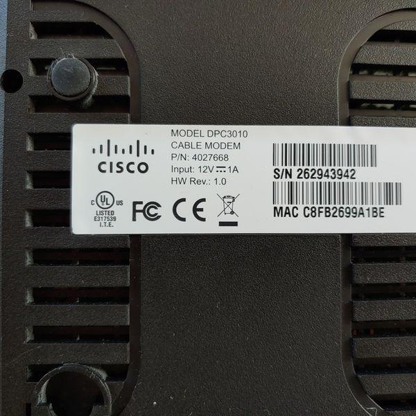 Cisco DPC 3010 modem
