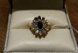 Brand New Fashion Garnet CZ White Crystal Ring. for Sale in Pawtucket, RI