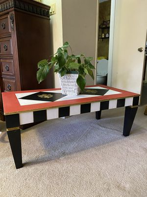 Hand painted all wood coffee table for Sale in Houston, TX