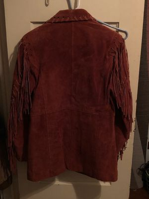 Red Leather fringe jacket. for Sale in Waco, TX