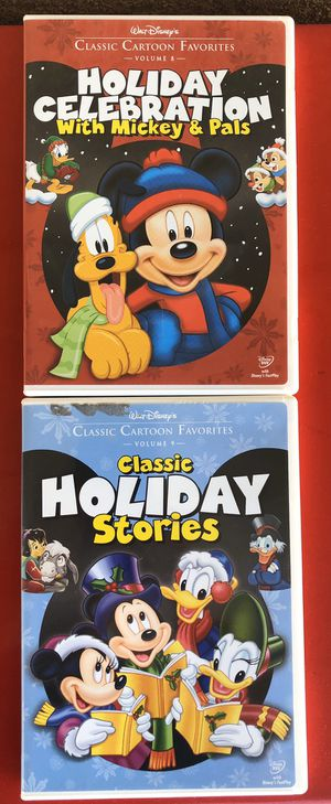 Mickey Minnie Christmas cartoons dvds pair for Sale in San Mateo, CA