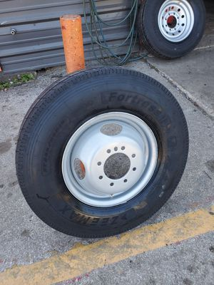 235/80/16 NEW TRAILER TIRE AND WHEEL FOR 250 DOLLARS FINANCING AVAILABLE NO CREDIT CHECK 90 DAYS SAME AS CASH for Sale in Houston, TX