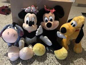 Original Disney stuffed characters- Mini, Daisy, Eeyore & Pluto price listed for each in description or for all in ad for Sale in Glendale, AZ