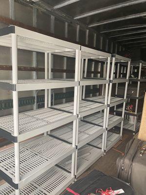 5- plastic racks. for Sale in Miami, FL