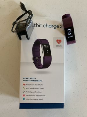 Fitbit Charge 2 (Plum, Large) for Sale in Morrisville, NC