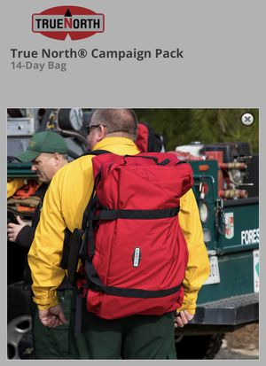 True North Campaign Pack 14-Day Bag Red Gen2 Wildland for Sale in Carrollton, TX