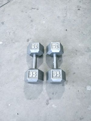 Dumbbell Weights 35lbs for Sale in Las Vegas, NV