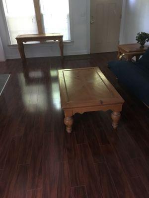 Coffee table, end table, high table, 2 Corner shelves. One bookshelf for Sale in Atlanta, GA