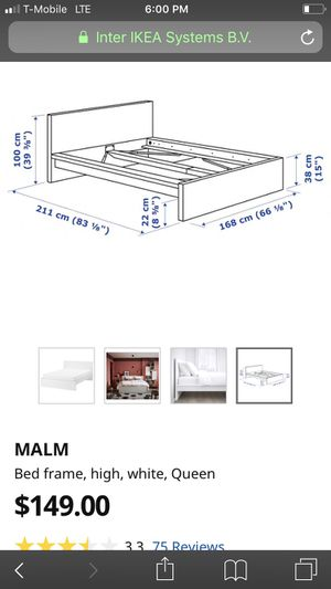 Malm white bed frame for Sale in Hawthorne, CA