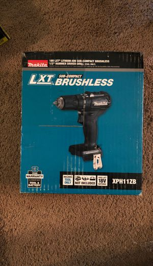 18-Volt LXT Lithium-Ion Sub-Compact Brushless MAKITA Cordless 1/2 in. Hammer Driver Drill (Tool Only) for Sale in Washington, DC
