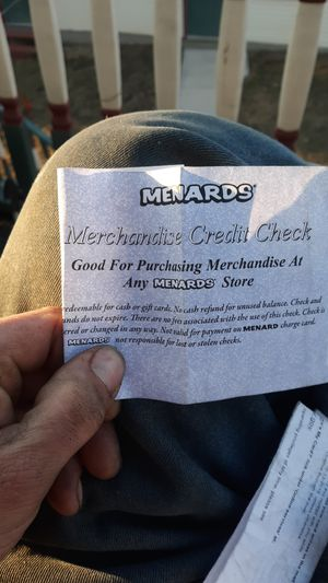Menards store credit for Sale in West Bend, WI