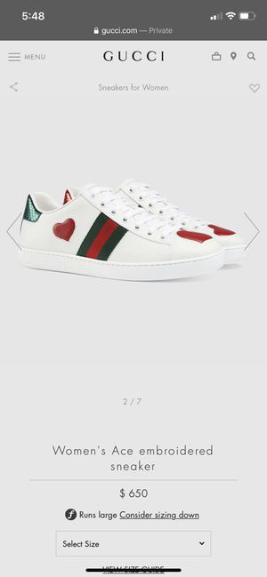 Gucci ace heart shoes for Sale in Los Angeles, CA