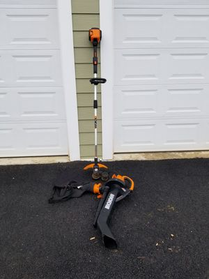 Worx cordless weed eater 56v Worx electric blower/vac for Sale in Broad Run, VA