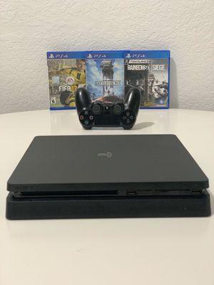PS4 SLIM + ONE CONTROLLER + 3 GAMES for Sale in Miami Beach, FL