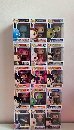 Pop Funko Marvel, DC Comics, Star Wars, Dragonball Z, Game of Thrones .... for Sale in Menifee, CA
