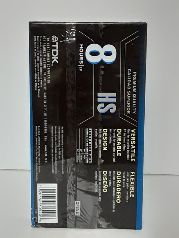 TDK T-160 8 Hr Premium Quality HS Blank VHS Tape T-160HSBH New Sealed