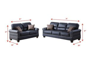 Bobkona Shelton Leather 2-piece Sofa and Loveseat Set for Sale in Plano, TX