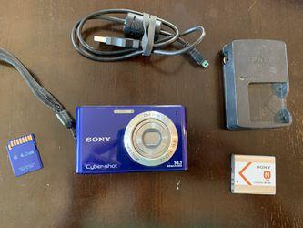 Sony Cyber-Shot digital camera + memory card + case for Sale in Wheat Ridge,  CO