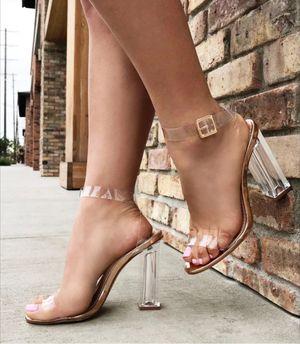 Fashion Nova Transparent Glass Slipper size 11 for Sale in Riverside, CA