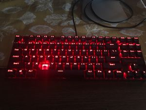 Red dragon mechanical keyboard with blue switches for Sale in Beaverton, OR