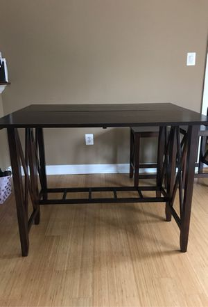 Pier 1 Imports - Extendable Wooden Table w/ 2 stools for Sale in Alexandria, VA