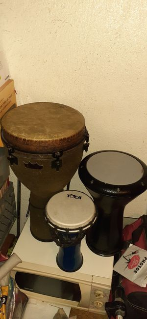"""DJEMBE SIZE 12"""" 10"""" 8"""" $100 FOR ALL 3 FIRM for Sale in Los Angeles, CA"""