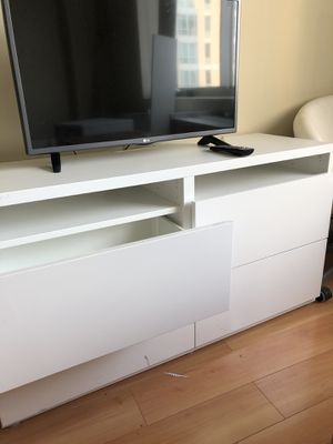 White Tv stand with drawers for Sale in Cambridge, MA