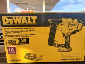 Brand new dewalt XR brushless narrow crown stapler kit 18 gauge for Sale in Fort Mill, SC