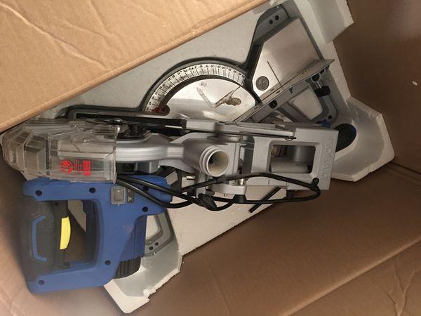 like new kobalt compact, sliding miter saw