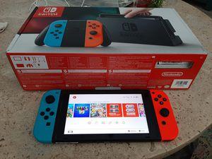 Nintendo Switch Blue/Red Joycons w/ digital Super Smash Bros Ultimate, Tetris 99, YuGiYo and more. for Sale in Lake Worth, FL