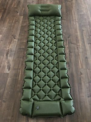 Green Inflatable Roll Up Camping Pad Sleeping Mat Backpacking Bug Out Bag Ultra Light Lightweight for Sale in Houston, TX