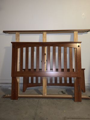 Queen Size Bed Frame with Mattress Set for Sale in Fort Rucker, AL