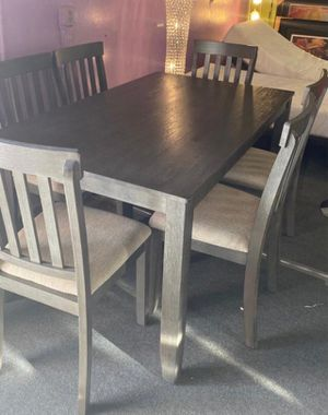 NEW DEAL‼️ 7pcs Grey Dining Set‼️ SAME DAY DELIVERY‼️No credit check‼️ for Sale in Las Vegas, NV