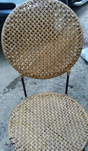 Wickard chair with metal legs for Sale in Coleman, MI