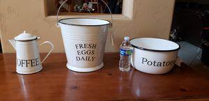 3 white kitchen dish for Sale in Stockton, CA