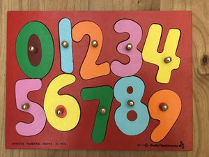 Vintage 1977 Judy Instructor Wood Puzzle - Numbers (J045024 Numeral Inlays 10 Pieces) for Sale in Hillsboro, OR