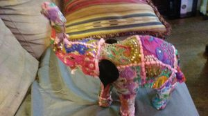 Large Beautiful handmade quilted covered elephant for Sale in Lexington, KY