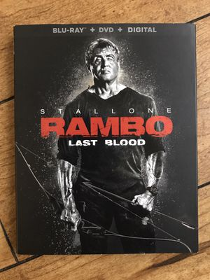 Rambo last blood blu ray + DVD for Sale in Los Angeles, CA