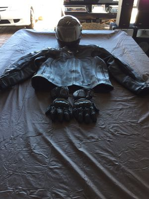 Black Motorcycle gear helmet jacket and gloves for Sale in North Las Vegas, NV