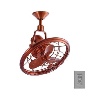 Bentley II 18 in. Indoor/Outdoor Weathered Copper Oscillating Ceiling Fan with Wall Control for Sale in Houston, TX