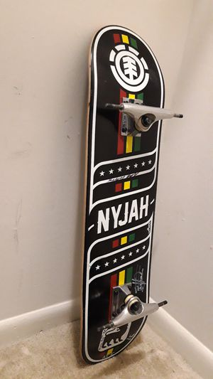 Nyjah skateboard with element truck for Sale in Rockville, MD