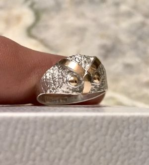 18k gold & 950 silver OWL ring for Sale in Cumming, GA