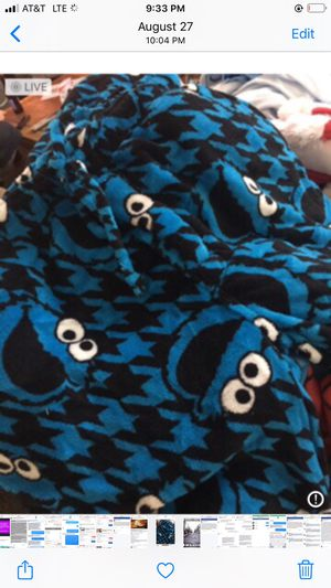 Cookie Monster PJ's brand new with tags! Puo Fontana 12.00 PM me for sizes needed. Great early Christmas gift shopping!! Great Christmas PJ bottoms for Sale in Fontana, CA