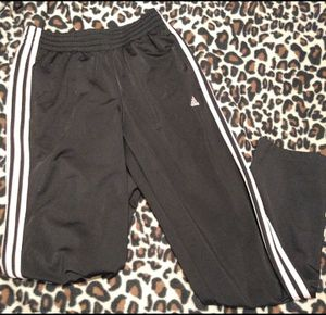 Adidas black and pink jogger pants female women's sport soccer for Sale in Denver, CO